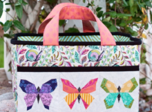 Charming Butterfly Quilt Block | Sewing Traveler Bag