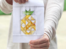 Pineapple Smoothie Block | Free Quilt Block Pattern