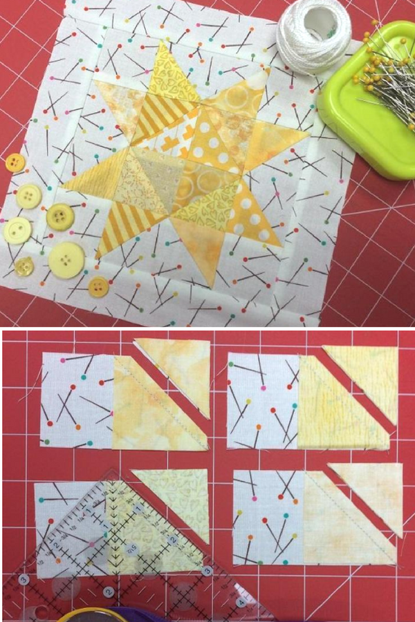 Star Quilt Block Free Pattern