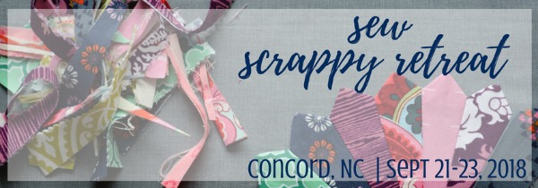 Grab your scraps and head to the Sew Scrappy Retreat in Concord, NC for a sewing weekend of fun this fall. Tickets are on sale now.