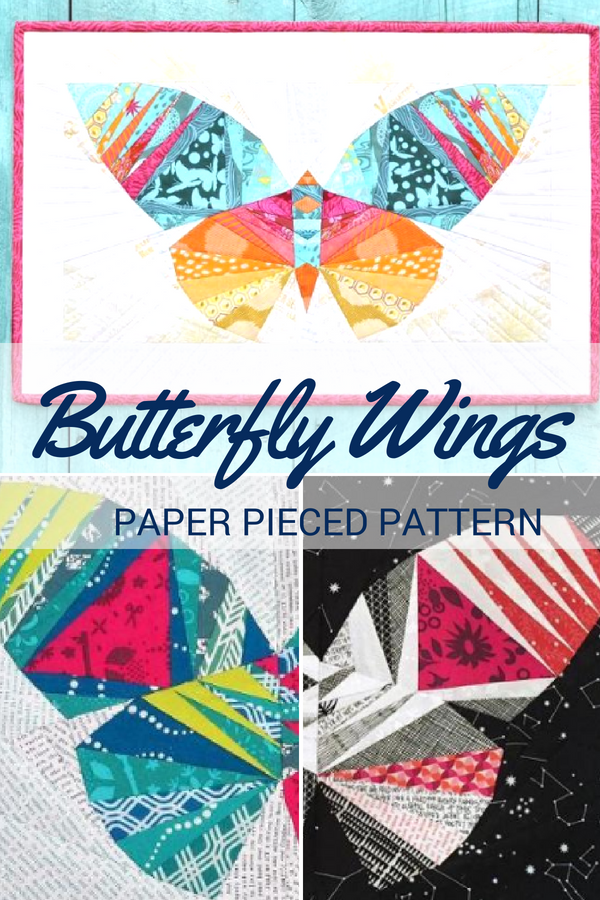 Grab your fabric scraps because this butterfly paper piecing pattern is about to transform them!