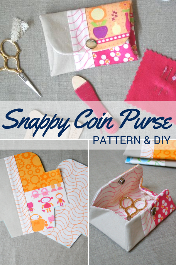 Transform your small fabric pieces into a scrappy coin purse with this easy to make, free pattern. Perfectly sized for change, needle minders and more.