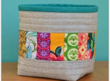 Patchwork Storage Basket Free Pattern