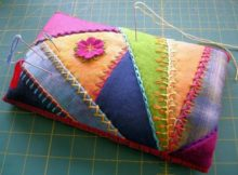 Pincushion with Crazy Quilting Technique