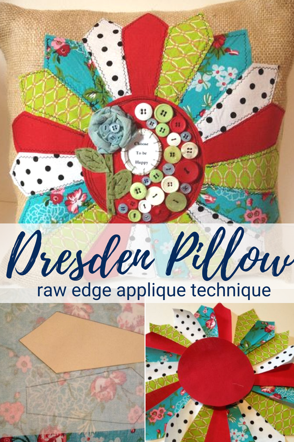 Applique Dresden Pillow Project | Free Tutorial
