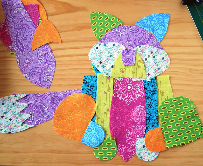 Colorful fabrics make this fox sewing pattern a MUST make!