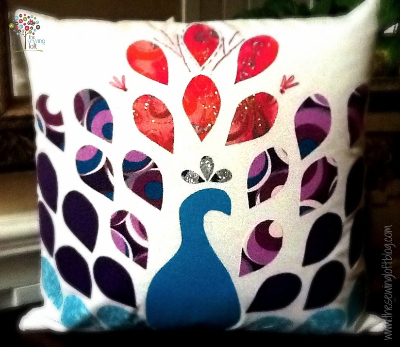Pretty Peacock Applique Pillow | Free Pattern