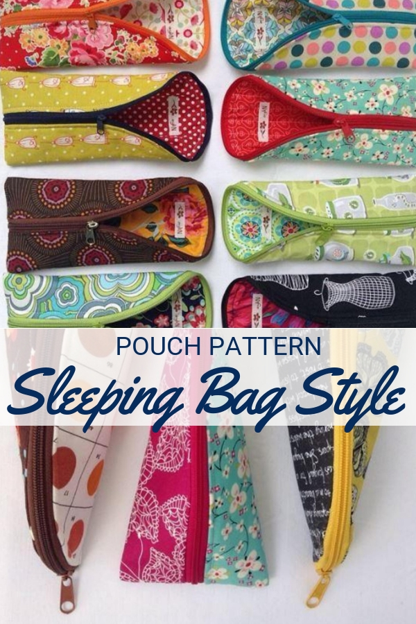 Keep your small items together and ready when you are with this fashionable & functional Sleeping Bag Pouch Pattern.