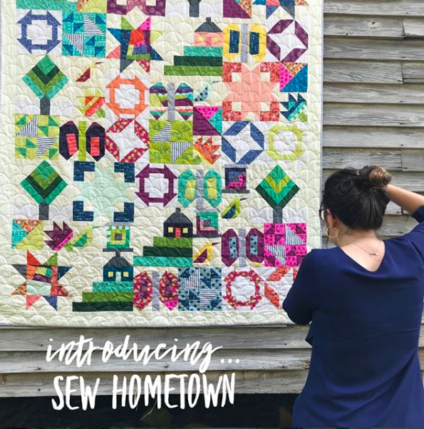 Check out Sew Hometown from Inspiring Stitches. Not only is this pattern design beyond cute but it's also a quilt calendar for your desk.
