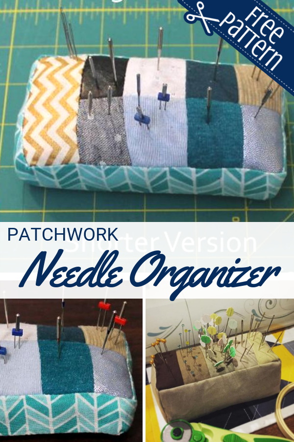 Every needle has a place with this patchwork needle organizer pattern. The free pattern is easy to make and bound to keep needles off the floor.