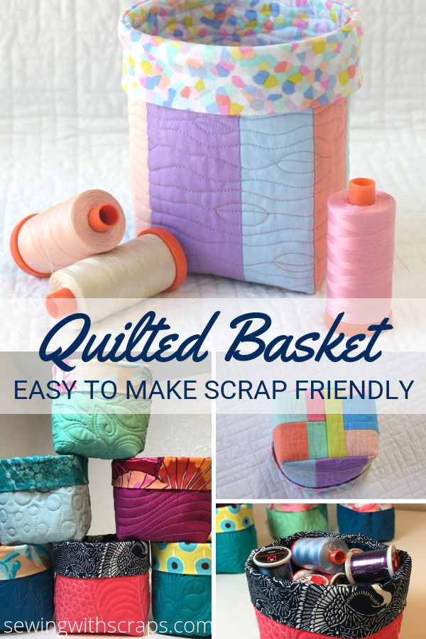 Scrappy Quilted Basket Free Pattern