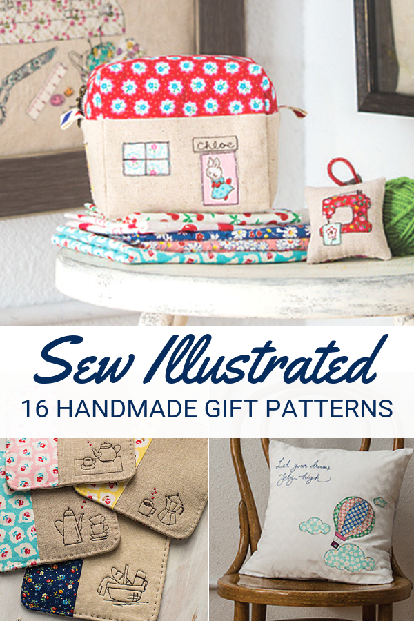 Turn your scrap fabric pieces into amazing projects with Sew Illustrated. Book includes 16 patterns, step by step instructions and so much more.