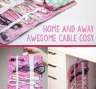 Free Cable Storage Pouch Sewing Pattern
