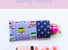 Free quilt as you go sunglasses case tutorial