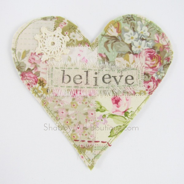 Shabby Chic Scrappy Heart
