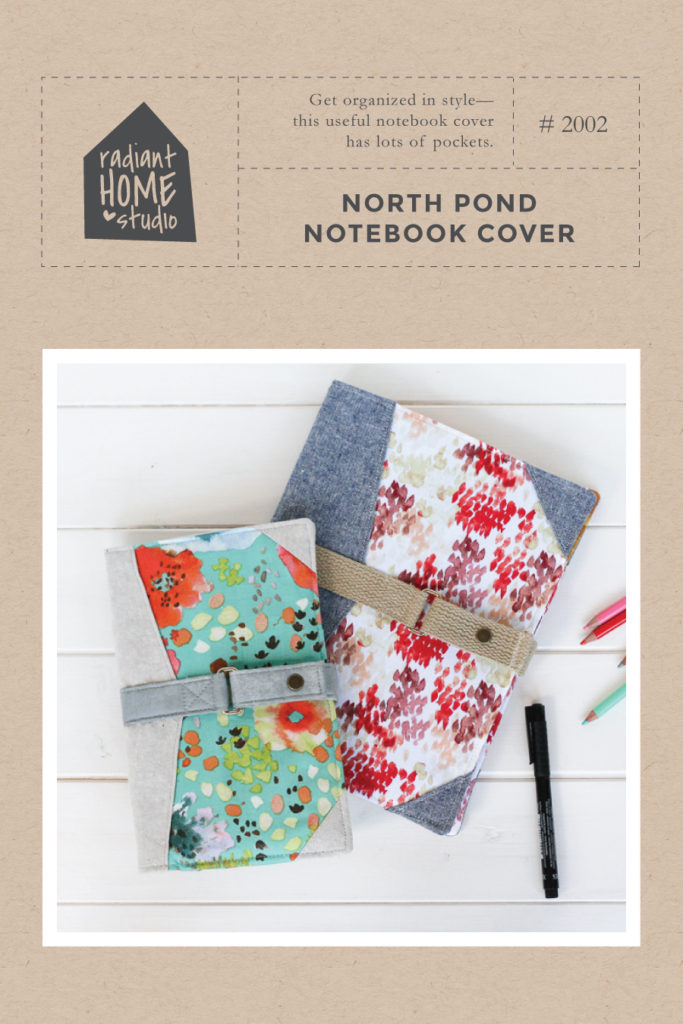 North Pond Notebook Cover Sewing Pattern