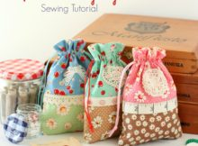 Retro Drawstring Bag Tutorial