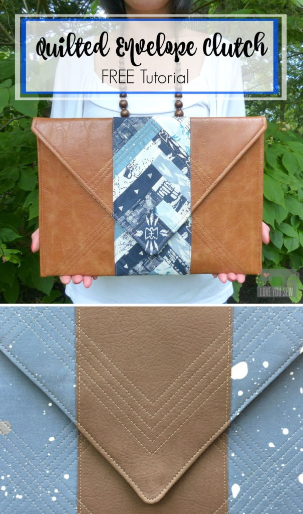 Quilted Envelope Clutch Tutorial