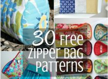 Free Zipper Bag Tutorials | Sewing with Scraps