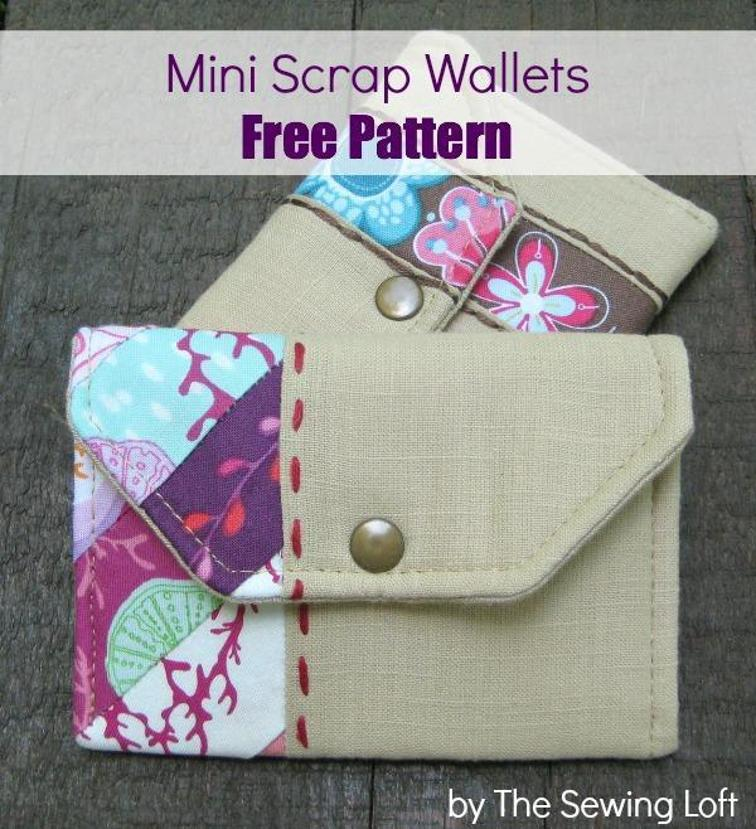 Mini Scrap Wallet Pattern