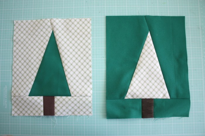 Modern Holiday Tree Quilt Block