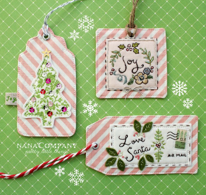 DIY Embroidered Gift Tags