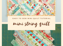 Mini String Quilt Tutorial