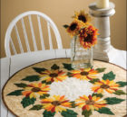 Sunflower Table Topper Sewing Pattern