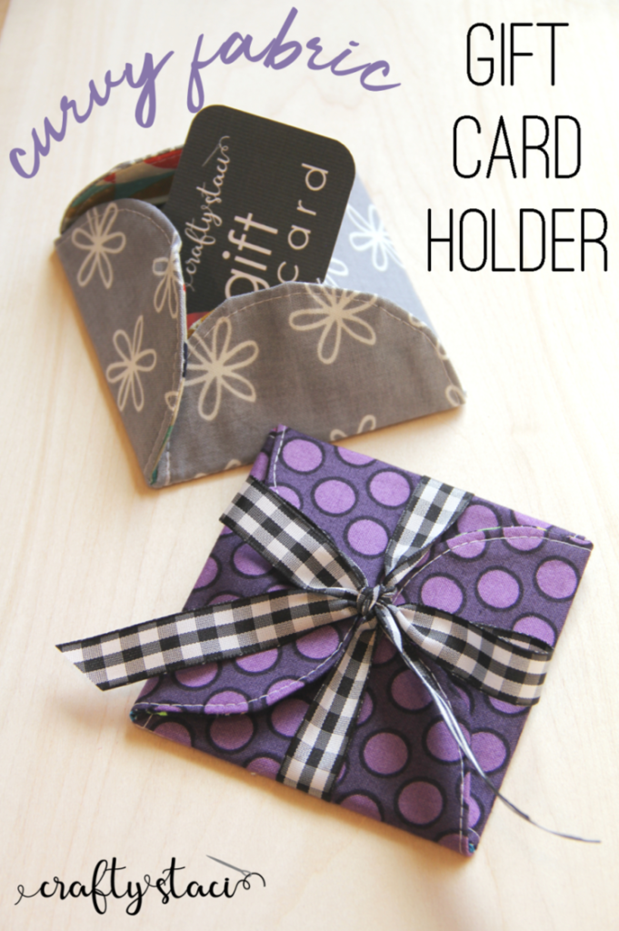 Curvy Fabric Gift Card Holder to sew