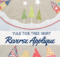 Yule Tide Tree Skirt sewing pattern with reverse applique tutorial
