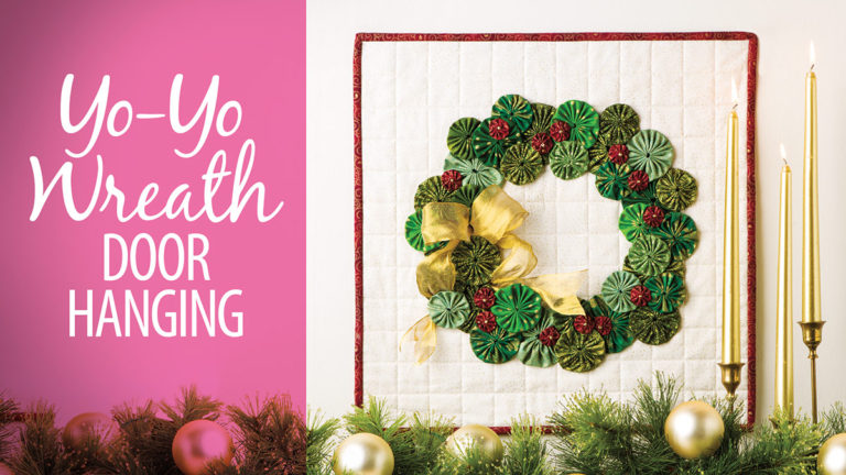 yo-yo wreath wall hanging video class