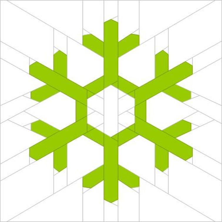free snowflake paper piecing quilt block