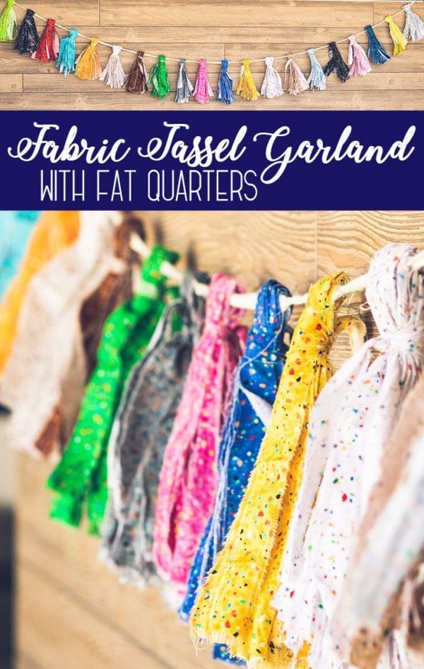 Fabric Tassel Garland with Fat Quarters