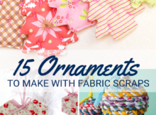 15 Ornaments to Make with Fabric Scraps