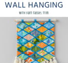 DIY Wall Hanging With Yarn Tassel Trim