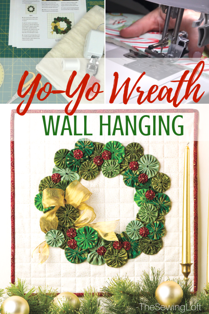 Yo-Yo Wreath Wall Hanging