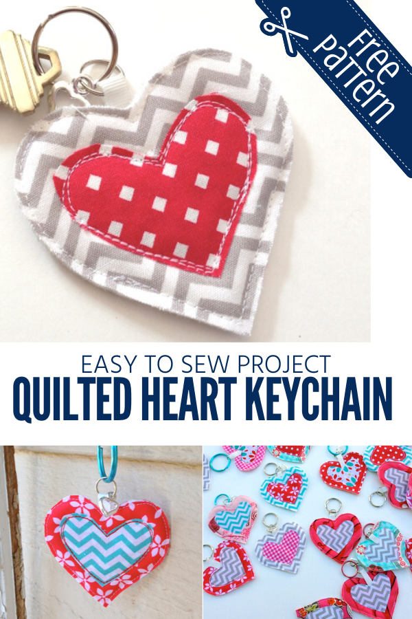 Quilted Heart Keychain Tutorial