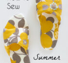 Simple to Sew Summer Slippers Tutorial