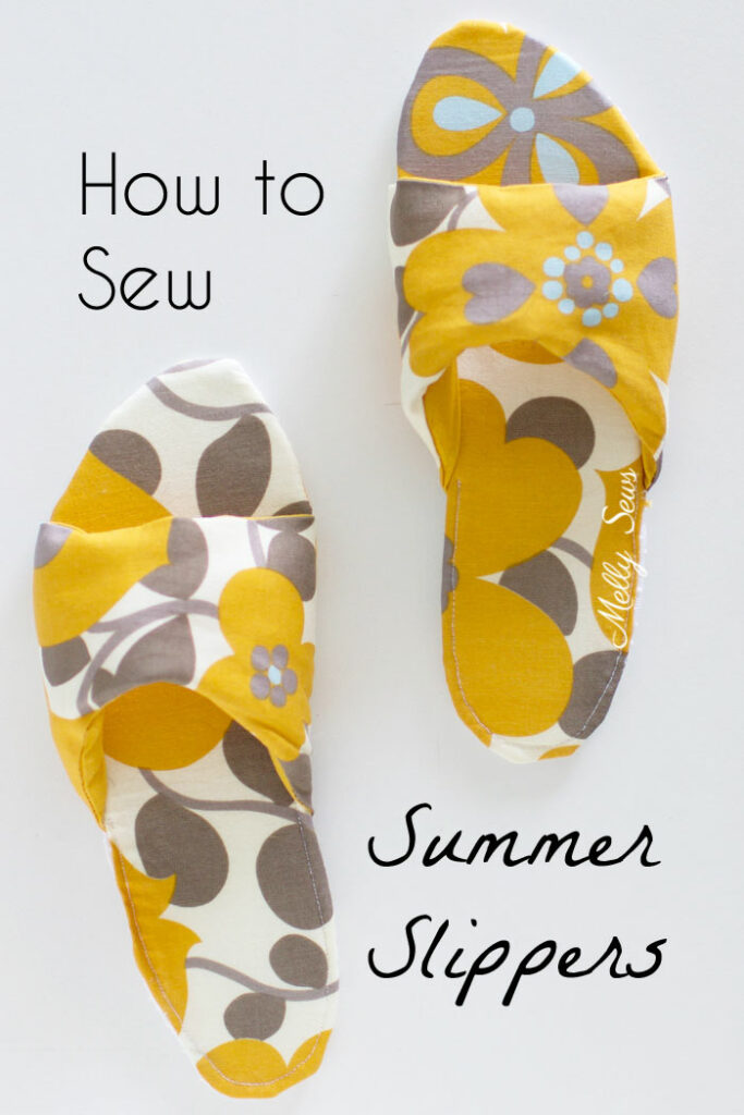 How to Sew Summer Slippers