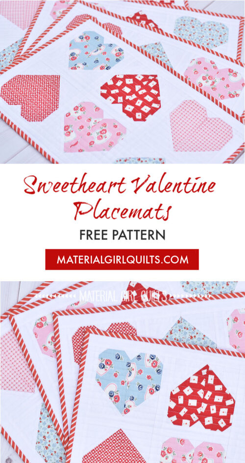 Free heart placemats pattern