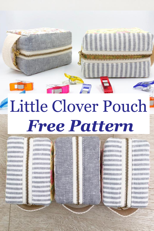 Little Clover Pouch Free Pattern