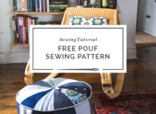 Free Pouf Sewing Pattern perfect for scrap busting