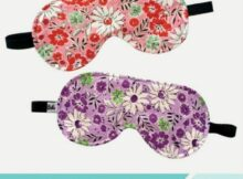 It's time to put my self care first and this easy to make free sleep mask is going to help! #sewing #freesewingpattern