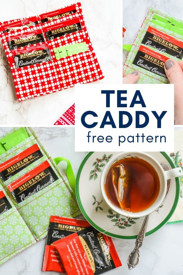 This easy to make traveling tea caddy is the perfect carry on for all your quick trips. #freepattern #diy
