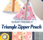 Triangle Zipper Pouch Tutorial