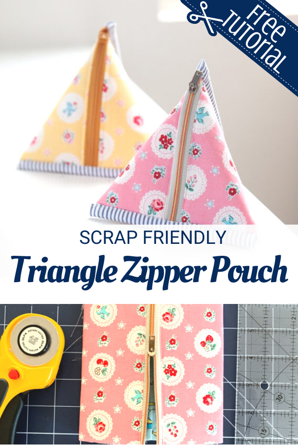 Free Triangle Pouch Tutorial
