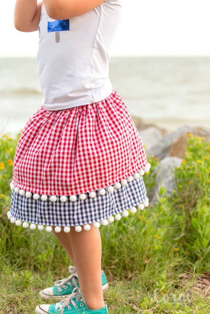 July 4th skirt for girls