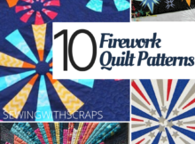 Fourth of July Quilts with Firecrackers