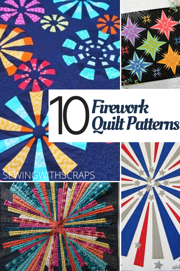 10 Firework Quilt Patterns for Fourth of July