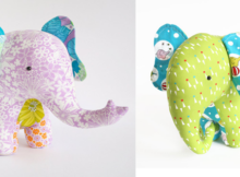Patchwork Elephant Soft Toy
